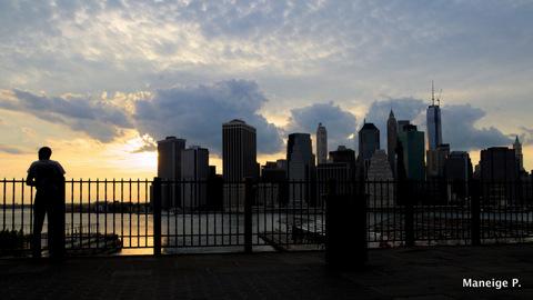 Wall Street from Brooklyn Bridge Park