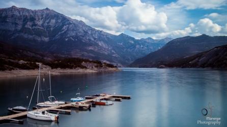 Sailboats on a lake